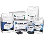 TURF MARK DYE is shown in a variety of sizes and application mediums