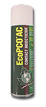 EcoPCO AC Contact Insecticide is shown in its 14oz green colored bottle