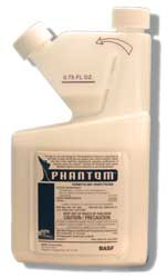Phantom termiticide / insecticide is shown in its easy to pour container This insecticide doubles as a great termiticide and works quickly!