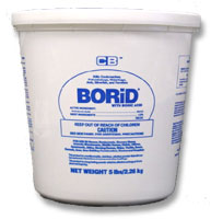 Borid Borate Dust is shown in a 5Lb pail. Borid Boric Acid Dust is one of the most popular insecticide dusts in the business!