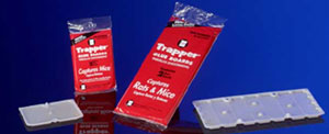 Trapper mouse glue traps are perfect for using in tough to reach areas and will trap mice and insects quickly!