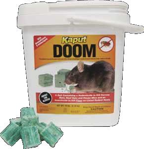 Kaput Doom Rodent Bait Blocks