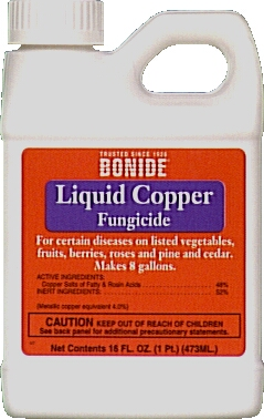 Bonide 811 Liquid Copper Fungicide is shown in a gallon bottle this liquid copper fungicide is one of the many fungicidal products from Parsons!