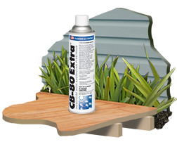 CB 80 insecticide is shown. This insecticide works great for crack and crevice control against cockroaches and other pests using PBO and pyrethrins to work