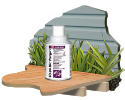 Clean Air Purge I is shown the maximum powered pyrethrin insecticide with air freshner qualities
