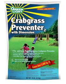 Greenlight Crabgrass Preventer with Dimension is shown this high powered herbicide uses Dioptyr to control a variety of grasses crabgrass included!