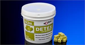 Detex Blox w/ Biomarker will make rodent droppings glow so they are more easily identified and the pathways and entry holes they use will be exposed clearly