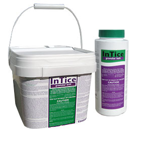 Intice Fine Granules are shown in 1 pound and 5 pound packages. These fine granules are very effevtive on a wide range of bugs