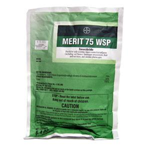 Merit 75WSP is shown in a 4X1.6g Green colored bag