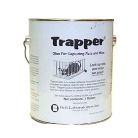 Trapper Glue for Glue Traps comes in a gallon pail. Use this gluetrap glue to make your own glue traps or to make the ones you have even better!