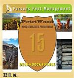 Petriwood Cedar Shield Wood Treatment label is shown