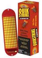Starbar QuikStrike Fly Abatement Strip is bright yellow in color and is curved because flies LOVe to land on curved surfaces