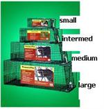 The Standard Line of Humane Way Live Animal Traps are shown in 4 sizes