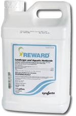 Reward Landscape & Aquatic, is Non Crop Herbicide and is shown here in a gallon jug