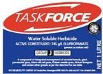 TaskForce Herbicide is water soluble and quickly attacks several kinds of grasses and weeds
