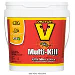Victor Multi Kill Blocks are shown in a pail of 288 x 1oz blox These blocks of difenacoum kill rodents within 3-5 days!