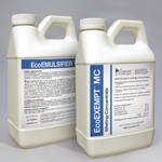 Ecopco Exempt MC is shown alongside ecoEmulsifier sold seperately this product is highly effective in mosquito misting applications when coupled with emulsifier