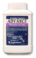 Advance Carpenter Ant Bait is shown in its blue, pink and white bottle This is a great bait for carpenter ants