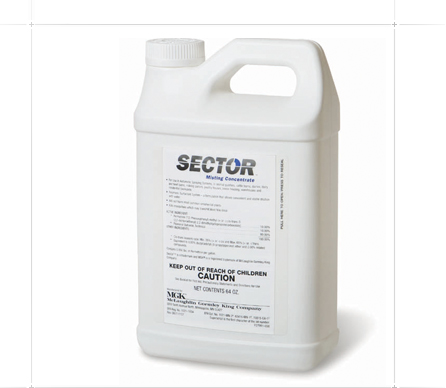 Sector Misting Concentrate 64oz bottle is shown Use in Mosquito Misting Equipment