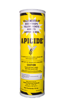 Apicide is shown kill wasps, bees, yellow jackets, and more with this great insecticide powder!