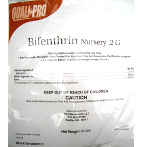 Bifen Nursery Gr comes in this 50 lb bag and will control a long list of pests with the power of bifenthrin!