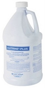 Cutrine Plus Liquid is shown in a 2.5 gallon jug. This powerful algaecide will not only control the existing algae but protect from any new algae growing!