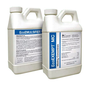 EcoPco Emulsifier is shown next to its partner ecopco mc sold seperately This powerful insecticide emulsifier will supercharge your efforts and is from EcoPCO the leaders in natural pest control!