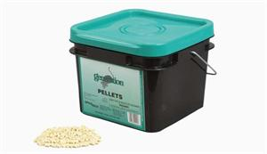 Generation Pellets are shown in a 10Lb Pail this rodenticide has a scent rodents wont ignore!