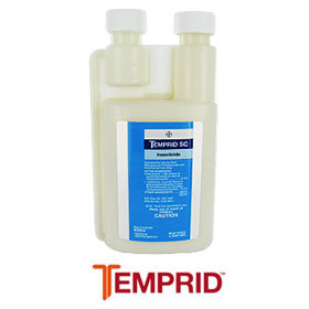 Temprid SC Insecticide is shown in its 400ml bottle. This insecticide uses two chemicals to dominate the pest control scene it quickly knocks down and kills over 50 pests PLUS gives a long lasting residual protection!