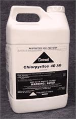 Chlorpyrifos 4E insecticide is shown here very effective in controlling bugs on the fruit and vegetables you love