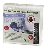 Protect-A-Bed Allerzip Boxspring Encasements for Bed Bugs are shown. These great box spring encasements protect you from bed bugs coming and going!